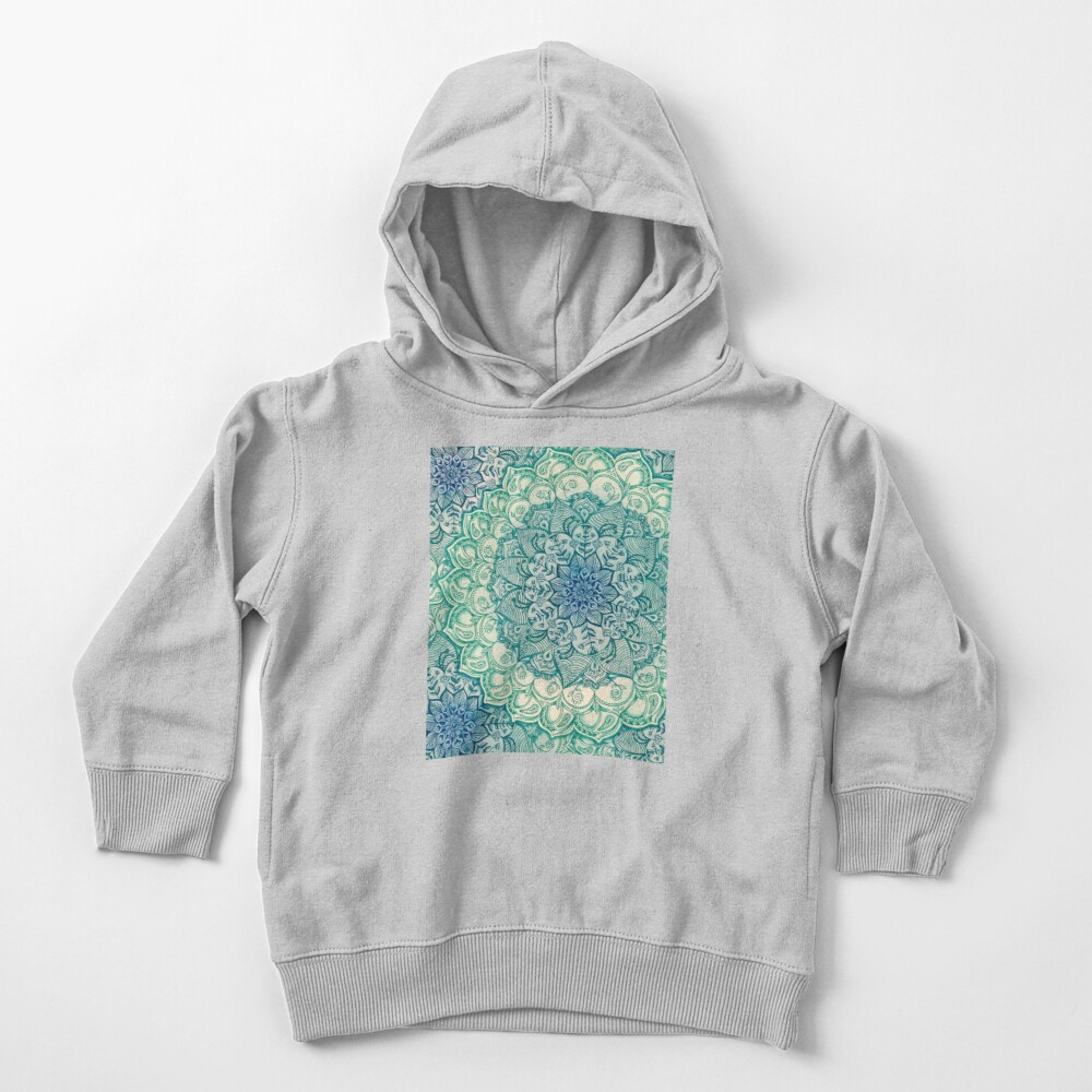 Emerald Doodle Toddler Pullover Hoodie
