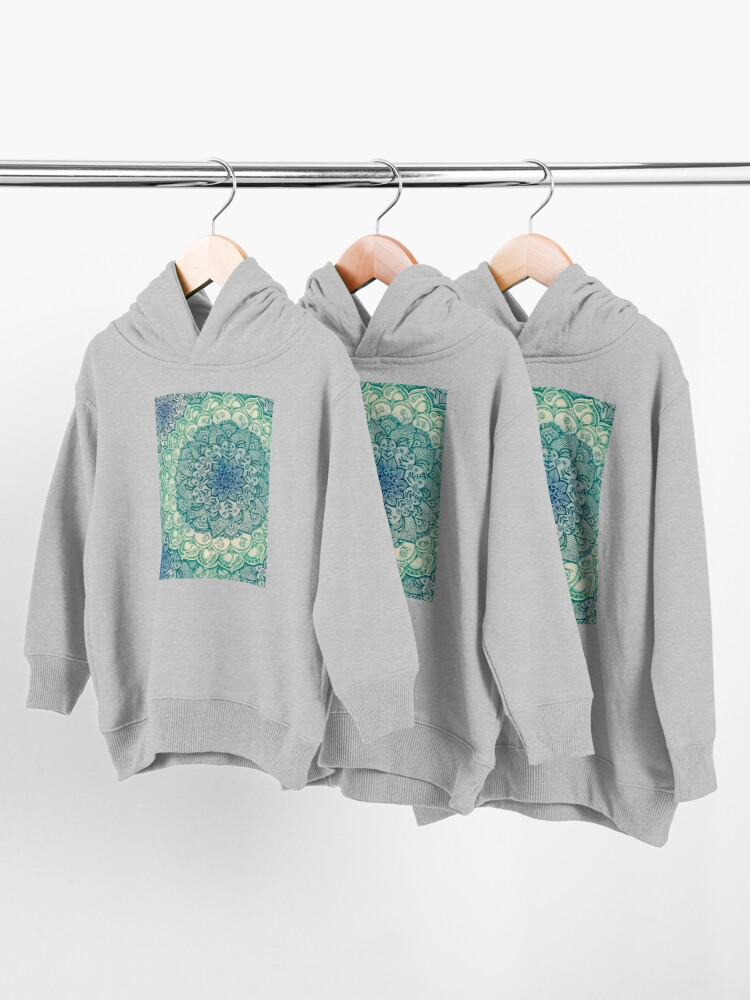 Alternate view of Emerald Doodle Toddler Pullover Hoodie