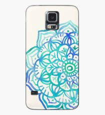 Watercolor Medallion in Ocean Colors Case/Skin for Samsung Galaxy