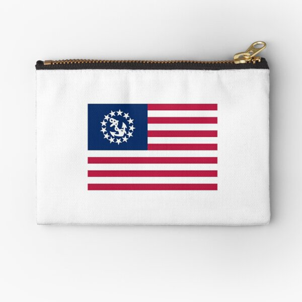 United States Yacht Ensign  Zipper Pouch