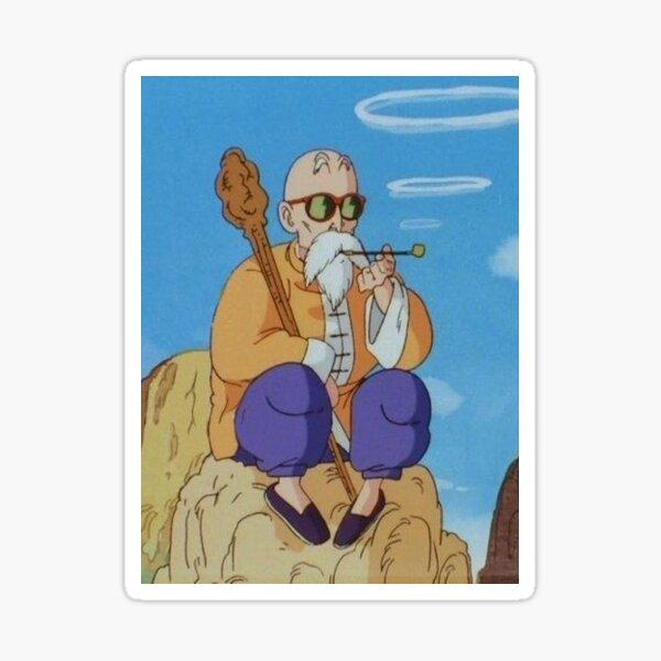 Master Roshi Smoking Pipe Sticker