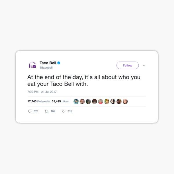 Taco Bell Tweet Sticker