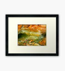 Goldfish Apocalypse (Plasma Stone) Framed Print