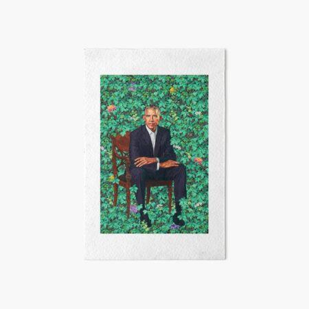 Obama Portrait  Art Board Print