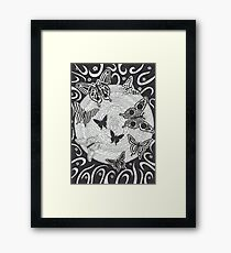 Night Butterflies Framed Print