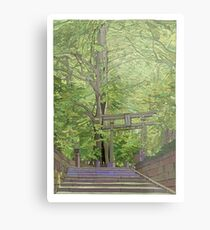 Ginko tree Yanesen Metal Print