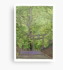 Ginko tree Yanesen Canvas Print