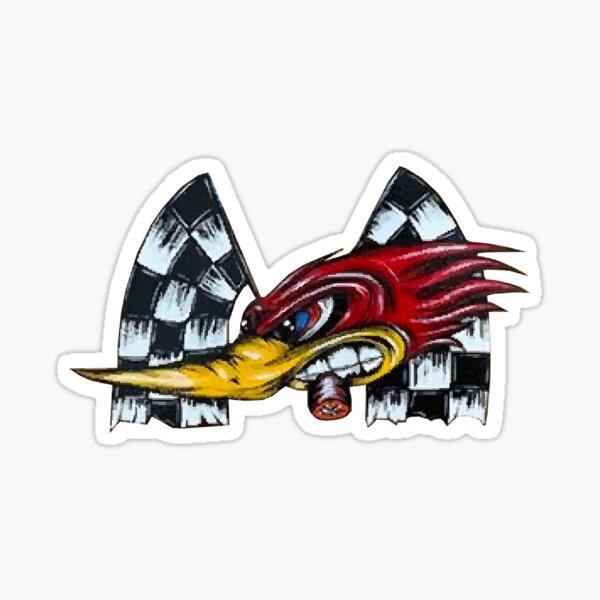 Furieux roadrunner en course Sticker