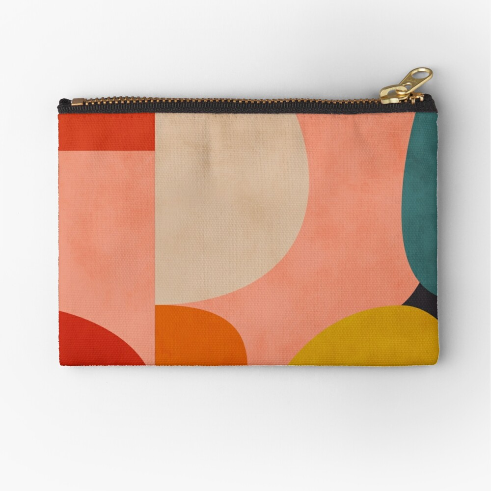 geometric shapes abstract 2 Zipper Pouch
