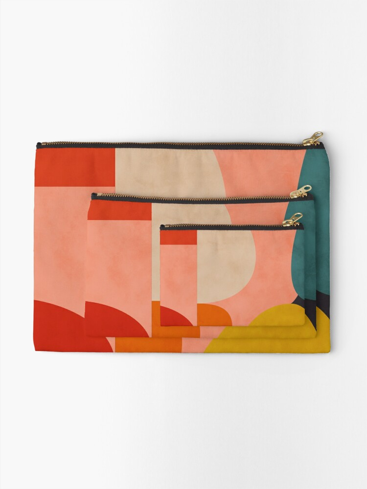 Alternate view of geometric shapes abstract 2 Zipper Pouch