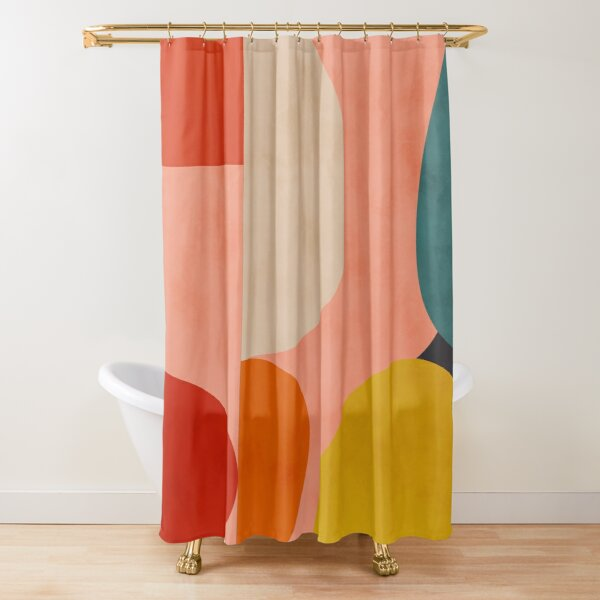 geometric shapes abstract 2 Shower Curtain