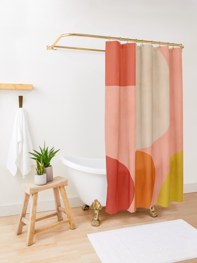 Alternate view of geometric shapes abstract 2 Shower Curtain