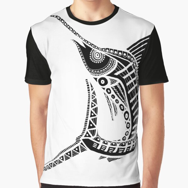 #532 - NATHALIE LE RICHE - ART and GIFTS - BNW MARLIN BILLFISH - Strike Out Graphic T-Shirt