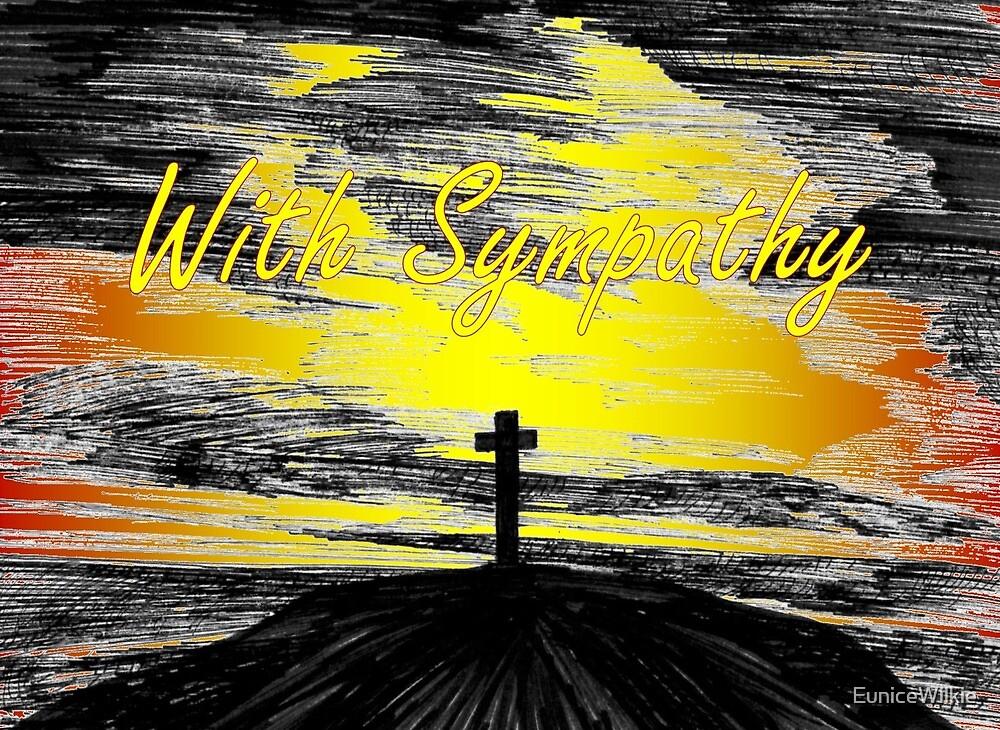 The Cross - Sympathy Card by EuniceWilkie