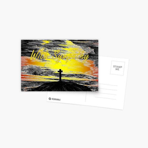 The Cross - Sympathy Card Postcard