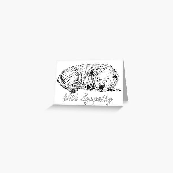 Let Sleeping Dogs Lie - Sympathy Card Greeting Card