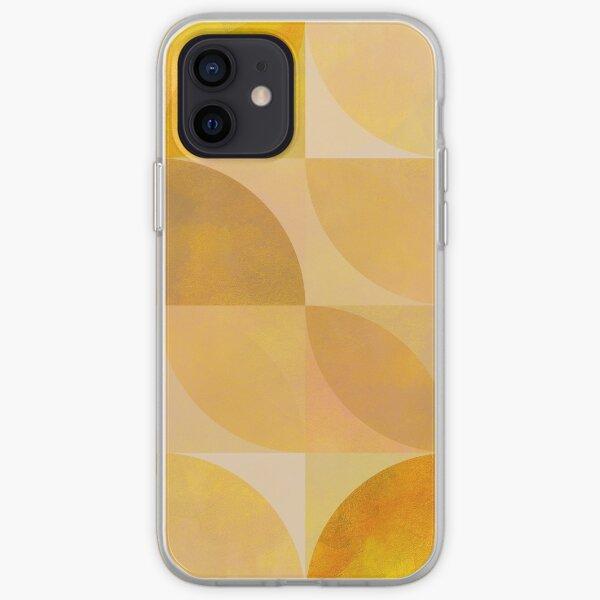 golden mid century geometry iPhone Soft Case