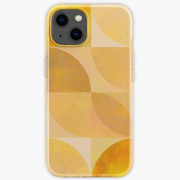 golden mid century geometry iPhone Flexible Hülle