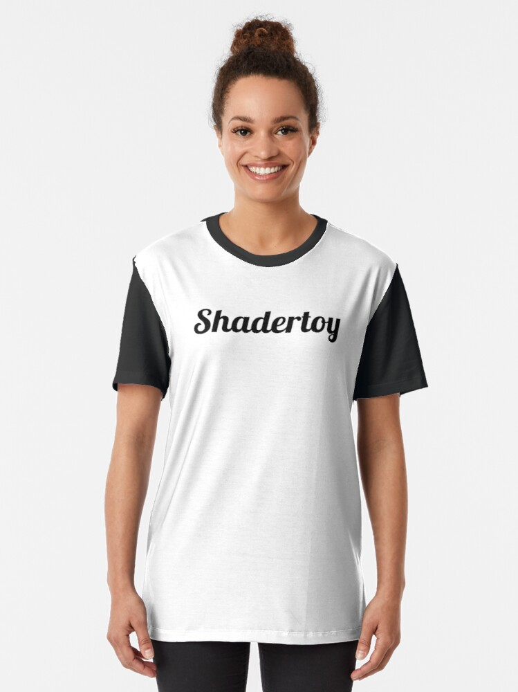 """Alternate view of Shadertoy """"vec3 col=(1.0,1.0,1.0);"""" Graphic T-Shirt"""