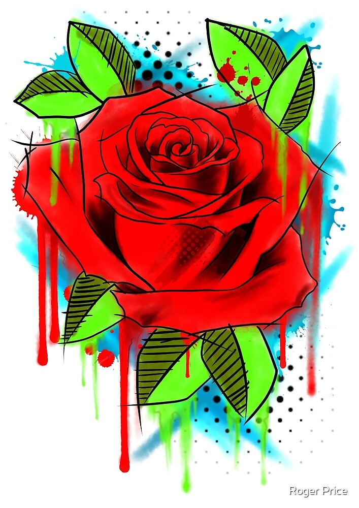 Water Color Rose by Roger Price
