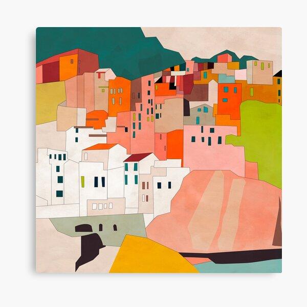 Italien Cinque Terre Illustration Leinwanddruck