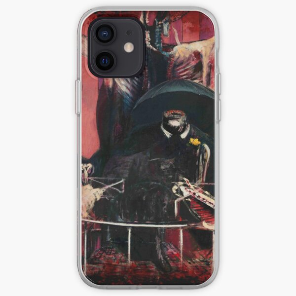 Francis Bacon Painting Horror Art lover figure man Meat gift t shirt iPhone Soft Case