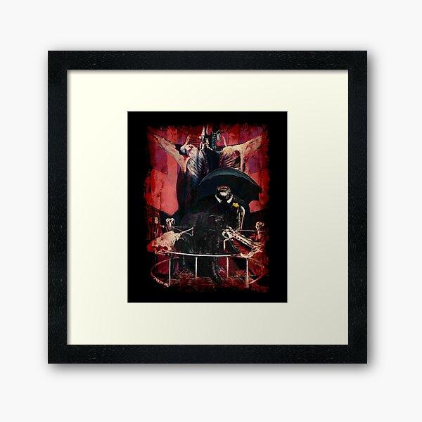 Francis Bacon Painting Horror Art lover figure man Meat gift t shirt Framed Art Print