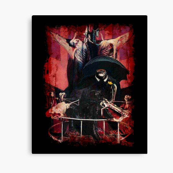 Francis Bacon Painting Horror Art lover figure man Meat gift t shirt Canvas Print
