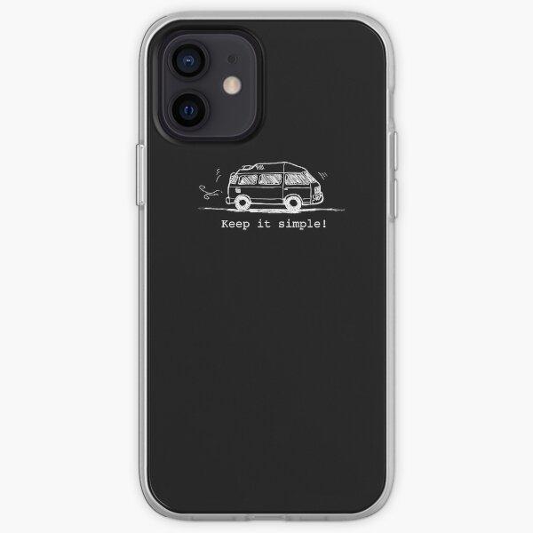 Gardez les choses simples! blanc Coque souple iPhone
