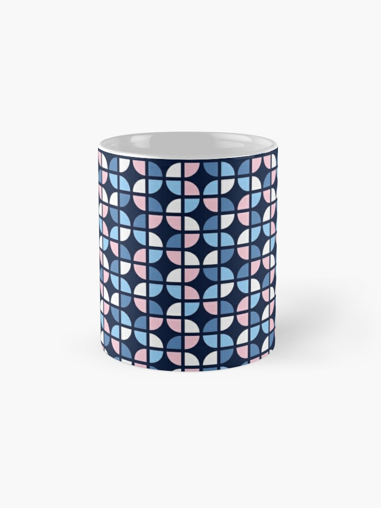 Alternate view of Geometric Pattern: Quarter Circle: Julia Mug