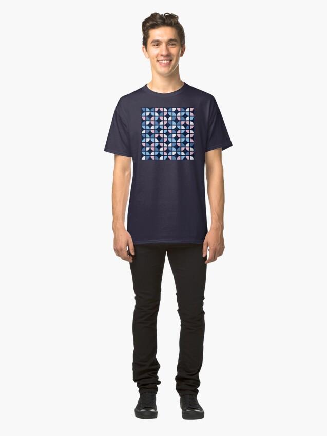 Alternate view of Geometric Pattern: Quarter Circle: Julia Classic T-Shirt