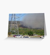 Bush fire in the hills 'Black Sunday' Greeting Card