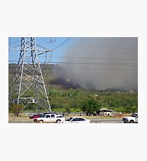 Bush fire in the hills 'Black Sunday' Photographic Print