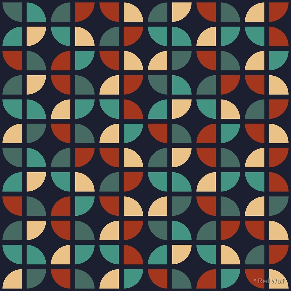 Geometric Pattern: Quarter Circle: Zero by * Red Wolf