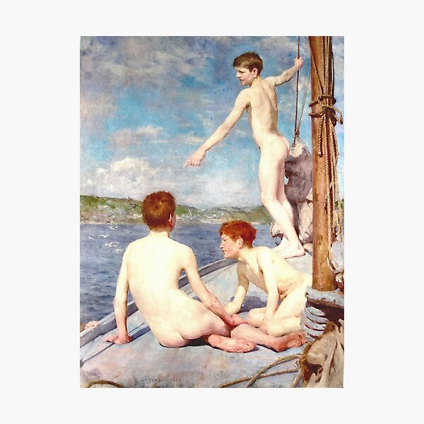 The bathers by Henry Scott Tuke Photographic Print