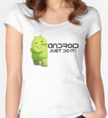Android - Just do it! Women's Fitted Scoop T-Shirt