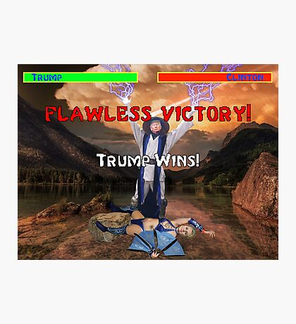 Trump's Flawless Victory Photographic Print