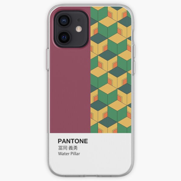 PANTONE Case Demon Slayer Giyu Tomioka Pilar de agua Funda blanda para iPhone
