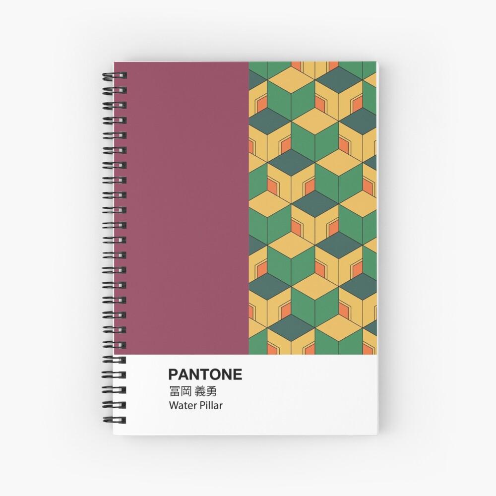 PANTONE Case Demon Slayer Giyu Tomioka Water Pillar Spiral Notebook