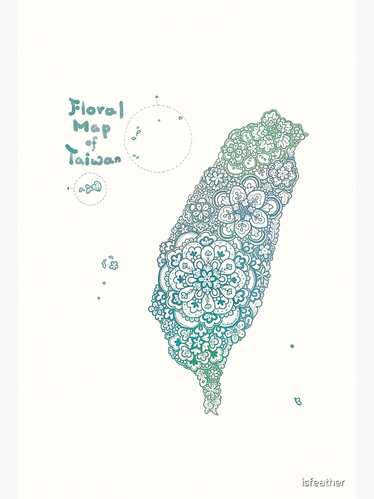 Floral map of Taiwan - water  by isfeather