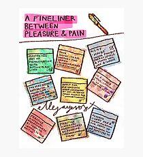 Pregnancy: Fineliner between Pleasure & Pain Photographic Print