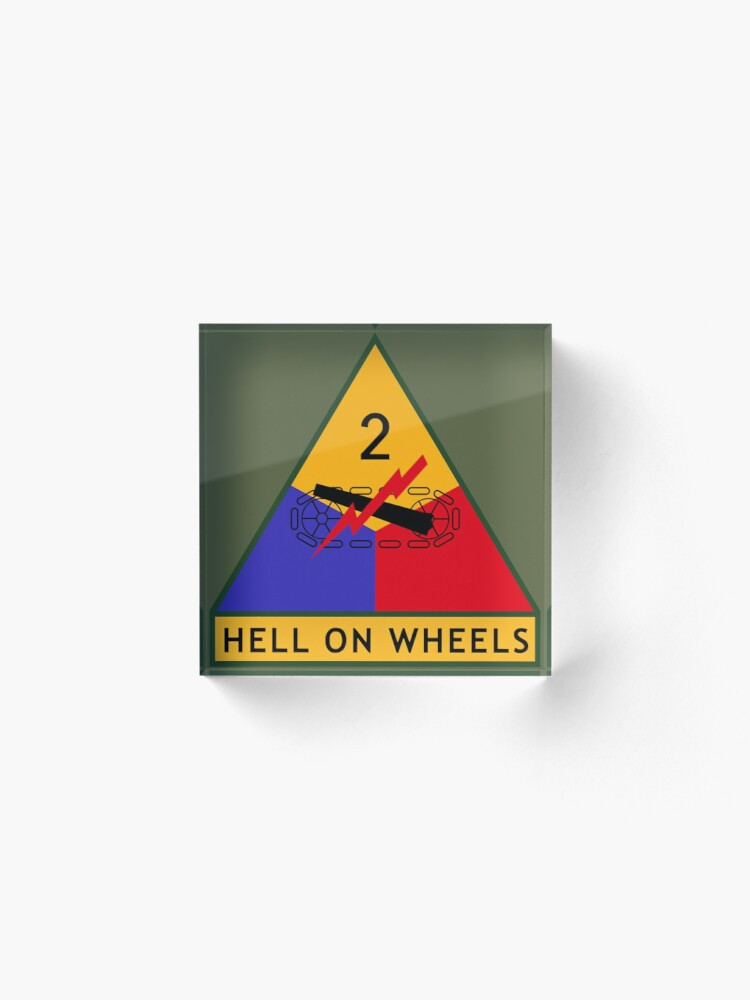 Alternate view of 2nd Armored Division (United States) Acrylic Block