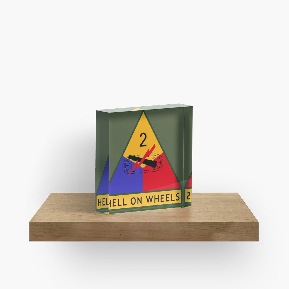2nd Armored Division (United States) Acrylic Block