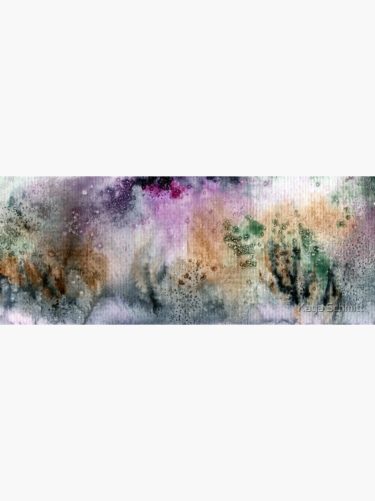 Abstract watercolor design inspired by Tongariro National Park in New Zealand by KatjaSchmitt