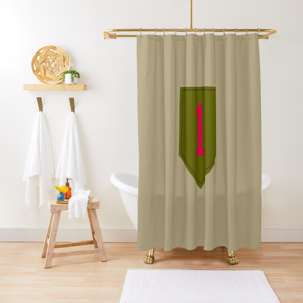 """1st Infantry Division """"The Big Red One"""" (United States Army) Shower Curtain"""