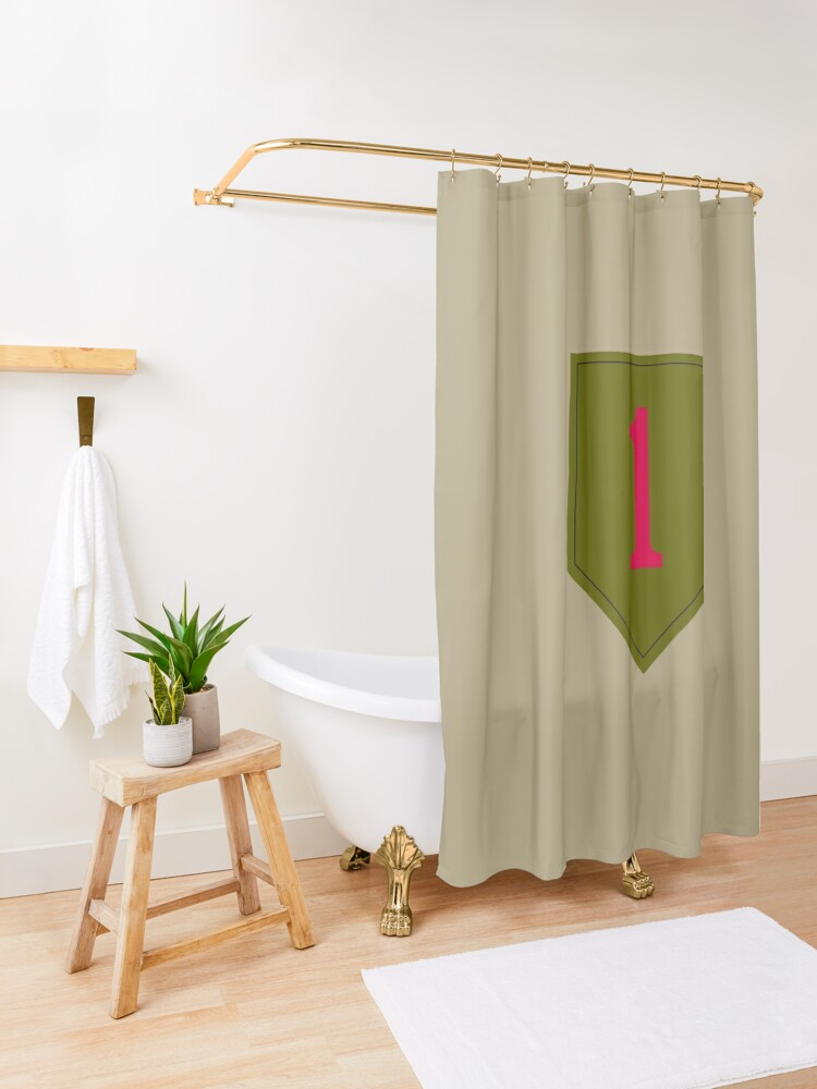 """Alternate view of 1st Infantry Division """"The Big Red One"""" (United States Army) Shower Curtain"""