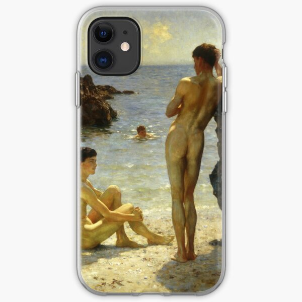 Lovers of the Sun by Henry Scott Tuke iPhone Soft Case
