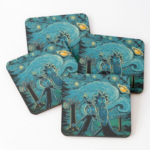 Impressionist Science Coasters (Set of 4)