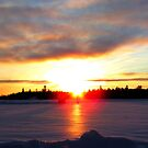 SUNSET ON THE ICEROAD  by Marie  Morrison