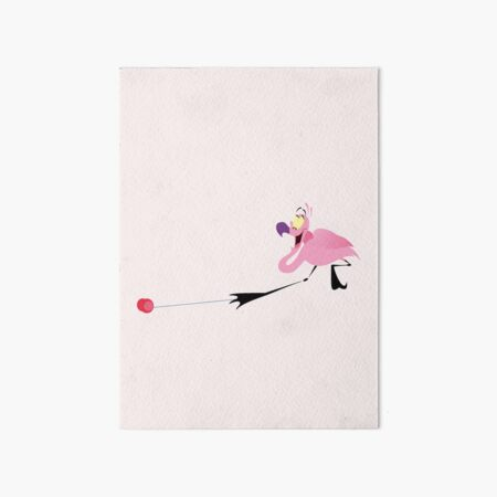 Carnival of the animals. Flamingo's yo-yo from Fantasia 2000 Art Board Print